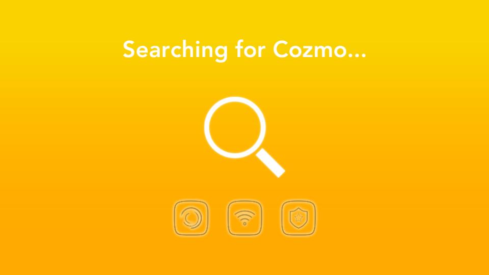 Application Cozmo Anki recherche WiFi