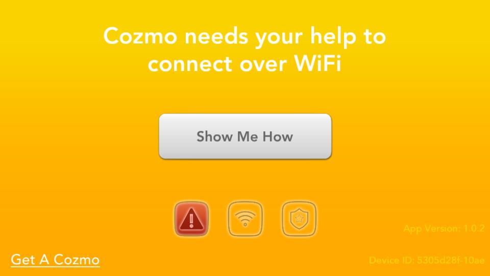 Application Cozmo Anki aide connexion