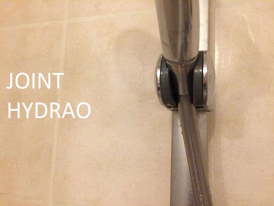 Hydrao de smart blue test du pommeau de douche for Nettoyer les joints de douche