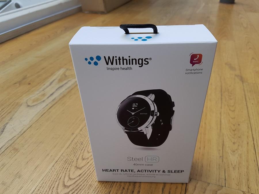 Withings Steel HR Unboxing boîte avant