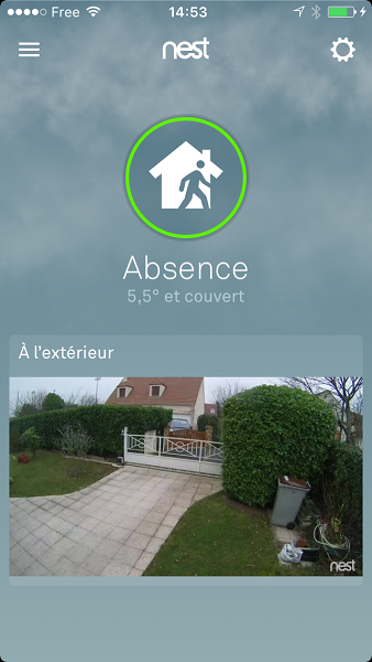 nest cam outdoor application absence