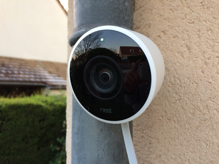 nest cam outdoor installation mur