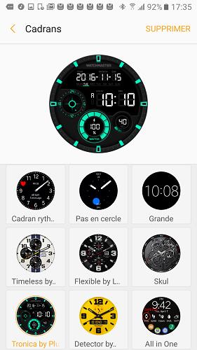 samsung gear s3 application cadrans