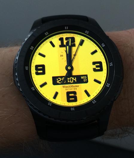 samsung gear s3 cadran jaune
