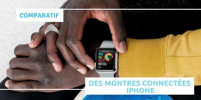 Comparatif montre connectée iPhone
