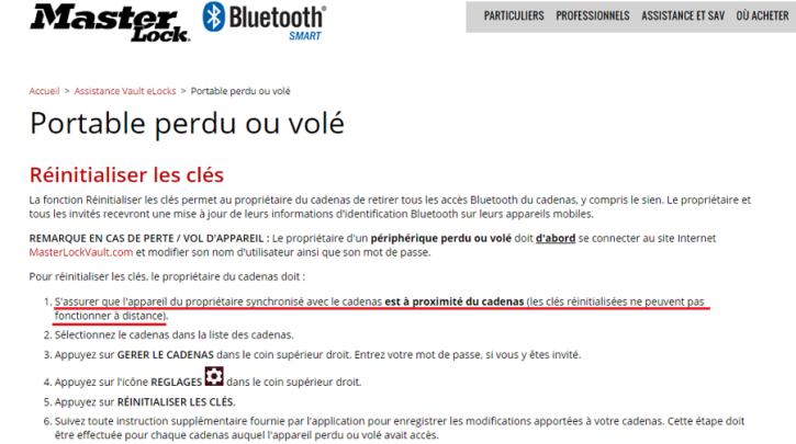 Non-test Masterlock Bluetooth Padlock