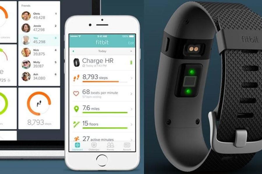 Fitbit Charge HR meilleur pédomètre connecté nombre pas distance parcourue calorie brulées sommeil
