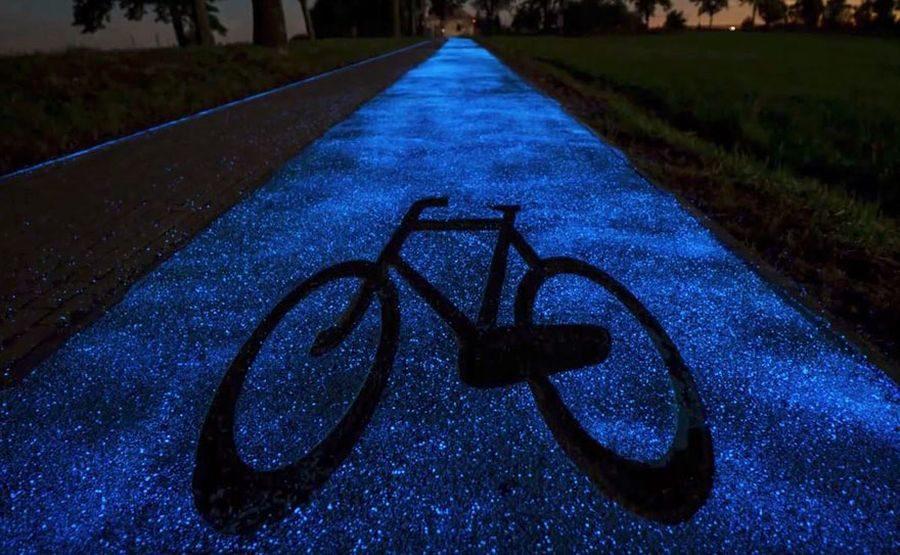 piste cyclable phosphorescente pologne