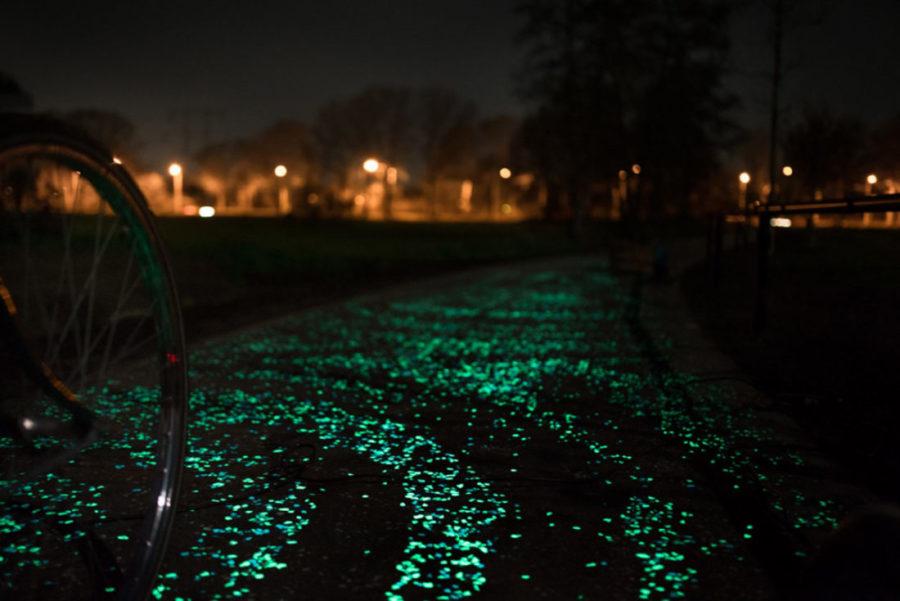 piste cyclable phosphorecente hollande