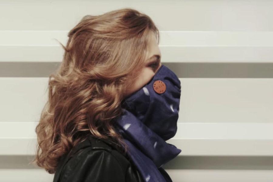 Wair foulard connecté accesoire filtre pollution air contaminants polluants qualité air