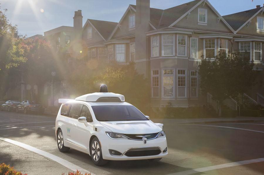 Waymo monospace autonome connecté Google Car