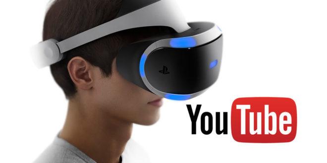 YouTube PlayStation VR maj appli vidéos 360 degrés