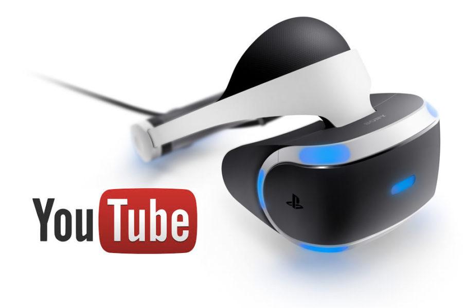 YouTube PS VR vidéos 360 applis YouTube casque PlayStation VR