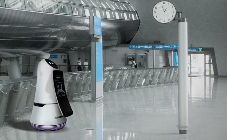 ces 2017 lg hub robot aéroport