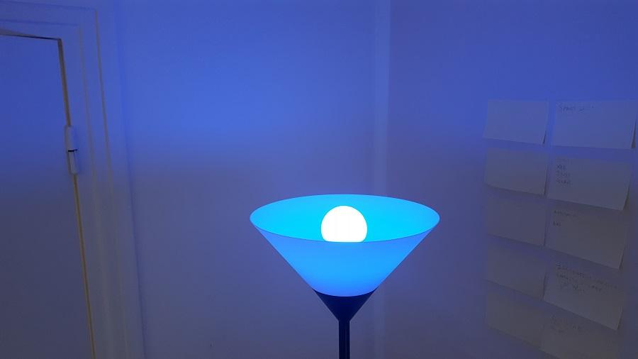 test Awox SmartLIGHT c9 Mesh couleur bleu