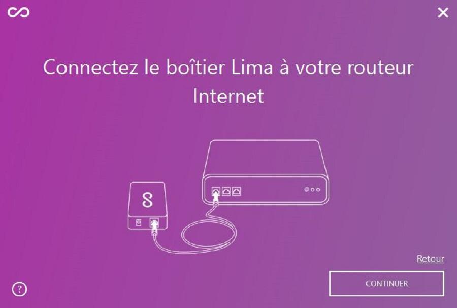 Test utilisation aide installation connexion routeur cloud personnel Lima Ultra