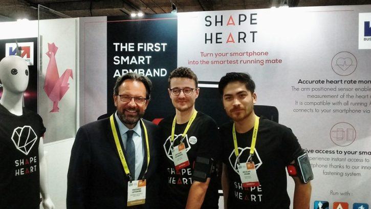 ces 2017 shapeheart brassard connecté capteur cardiaque politicien