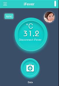 Utilisation Fii Smart Thermometer IFever Application test