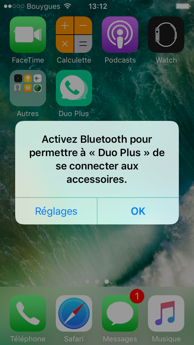 test Application Iphone interaction Oui Duo Plus