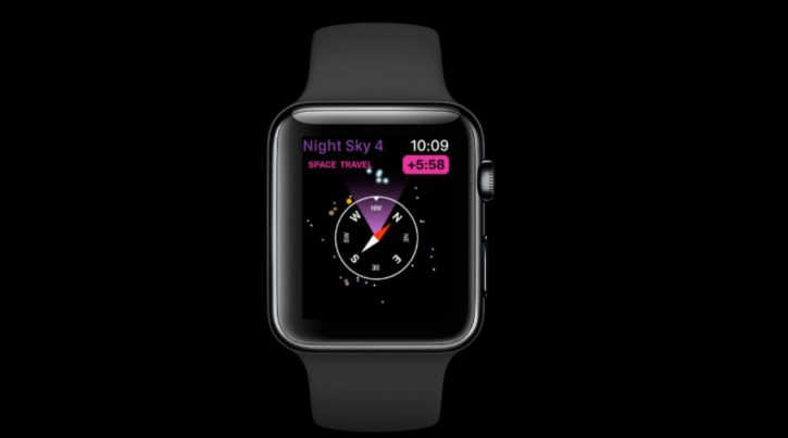 Application apple watch night sky