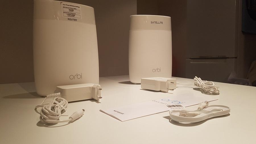 Test design Routeur Orbi Wi-Fi Netgear packaging