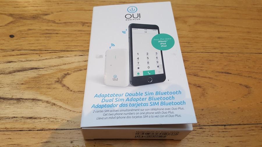 Test Unboxing Oui Duo Plus boîte face avant