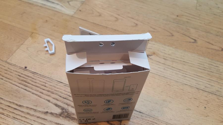 Test Unboxing Oui Duo Plus boîte ouverte debout