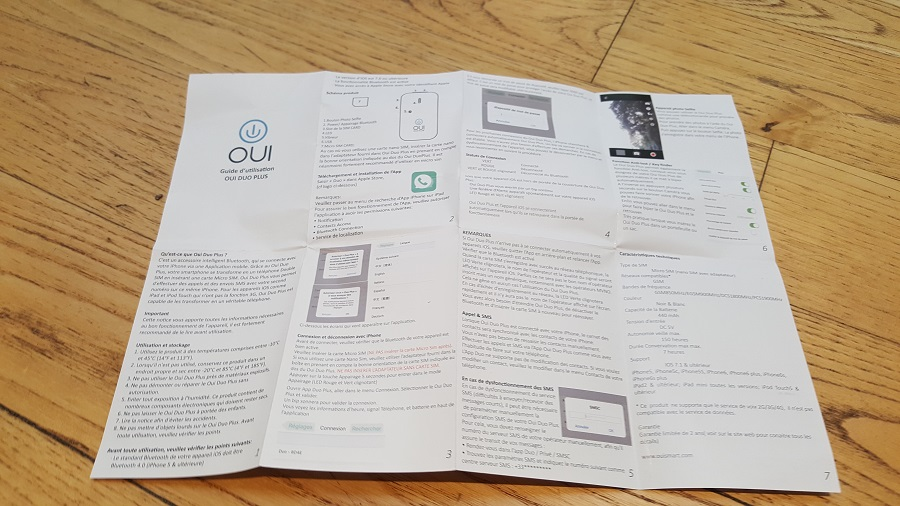 Test Unboxing Oui Duo Plus Notice
