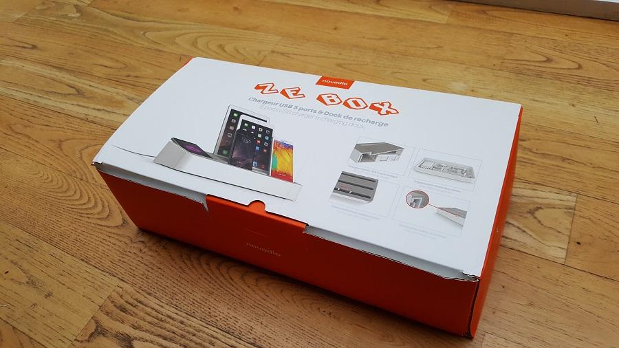 test ze box novodio unboxing vue haut USB