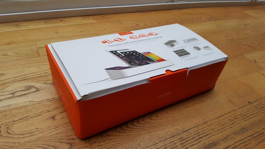 test ze box novodio unboxing vue trois quart station chargement