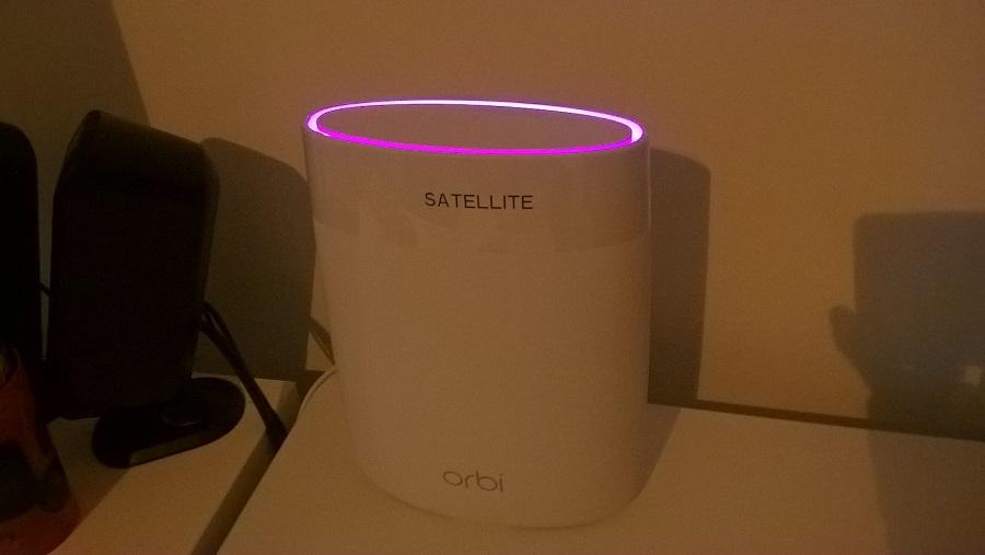 Test utilisation Faisceau Magenta Orbi Netgear Réseau Sans fil Satellite