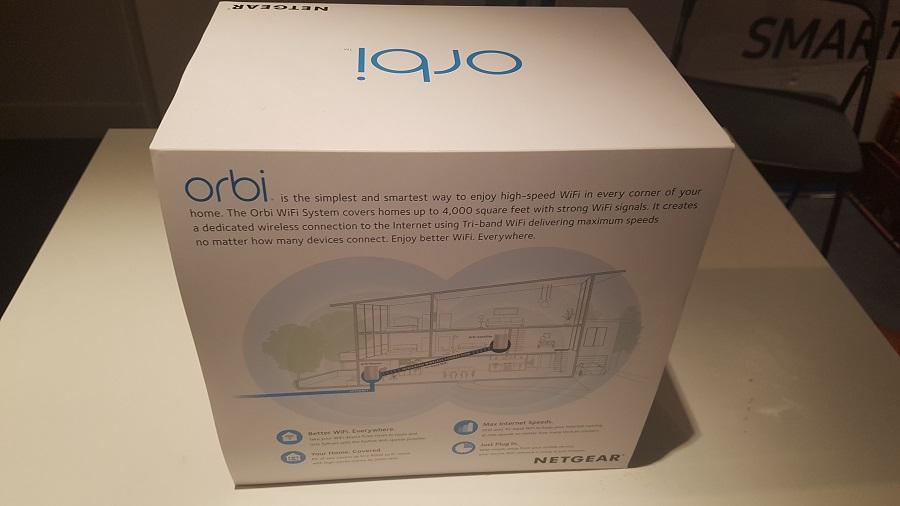 Test unboxing Vue Dos Orbi Netgear Routeur Réseau Wi-Fi