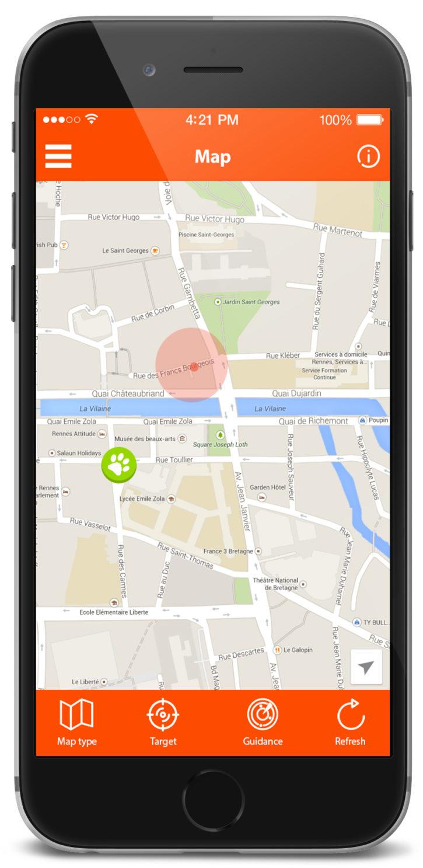 test weenect pets application GPS chien perdu