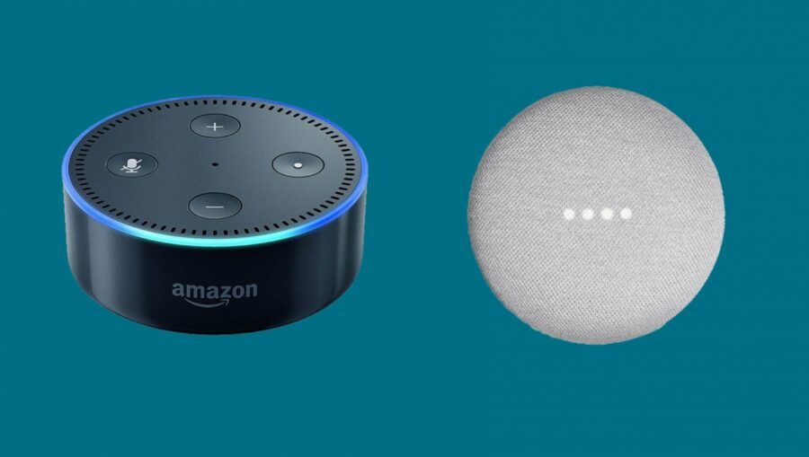 amazon echo dot google home mini
