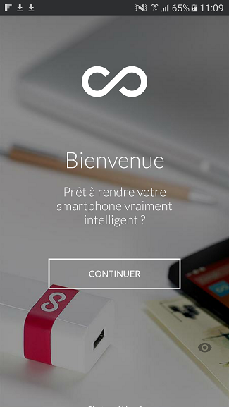 test utilisation application smartphone android accueil