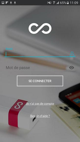 test utilisation smartphone android écran connexion compte lima