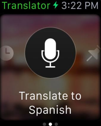 Application pour Apple Watch Microsoft Traducteur