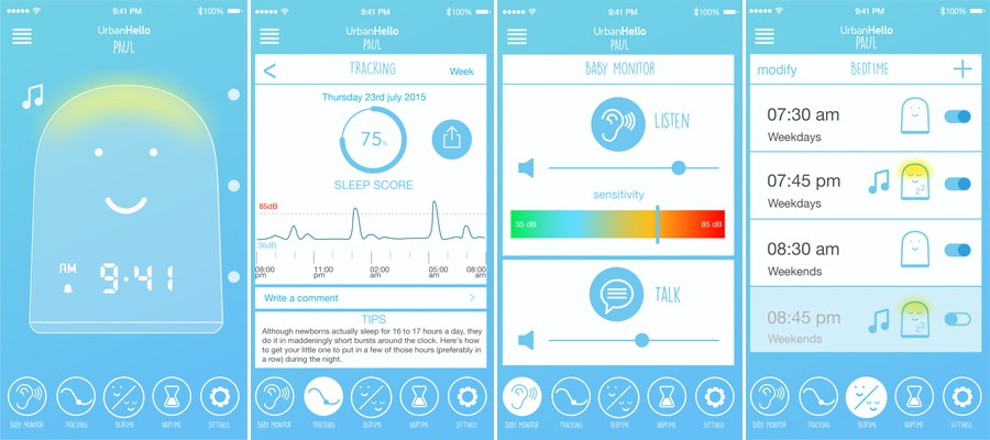 urbanhello-remi-app-bluetotth-veilleuse ces 2017
