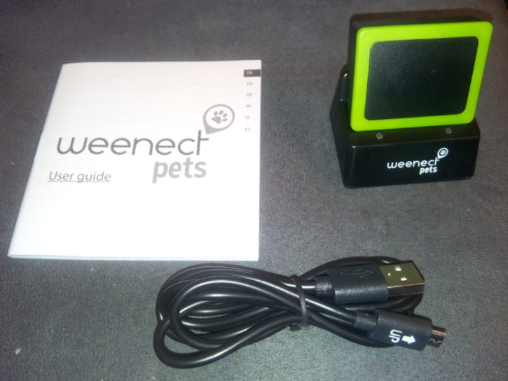 test weenect pets unboxing manuel chargeur balise