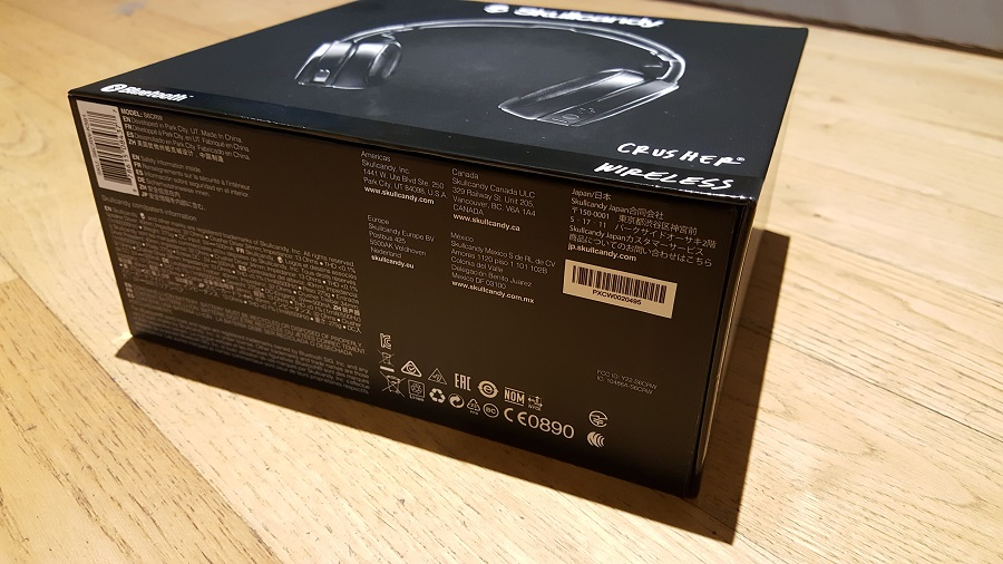 test skullcandy crusher wireless unboxing tranche boîte
