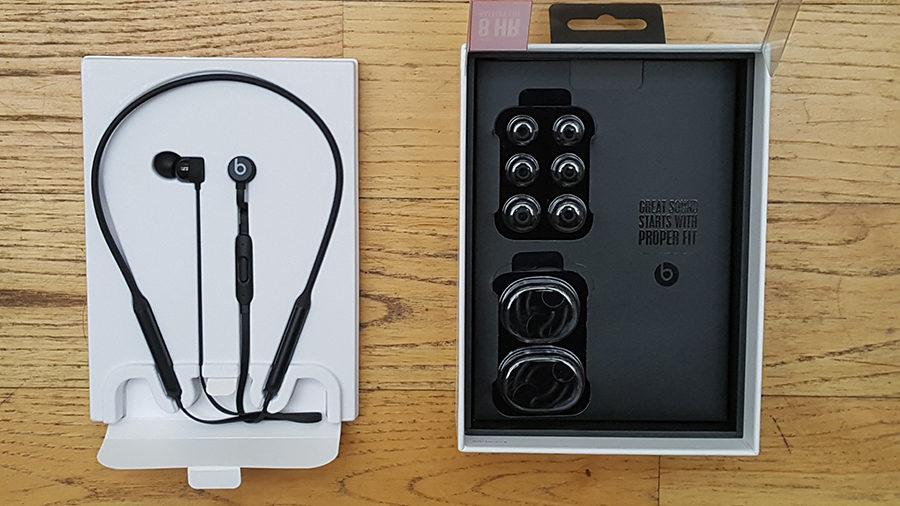 Test BeatsX écouteurs boîte