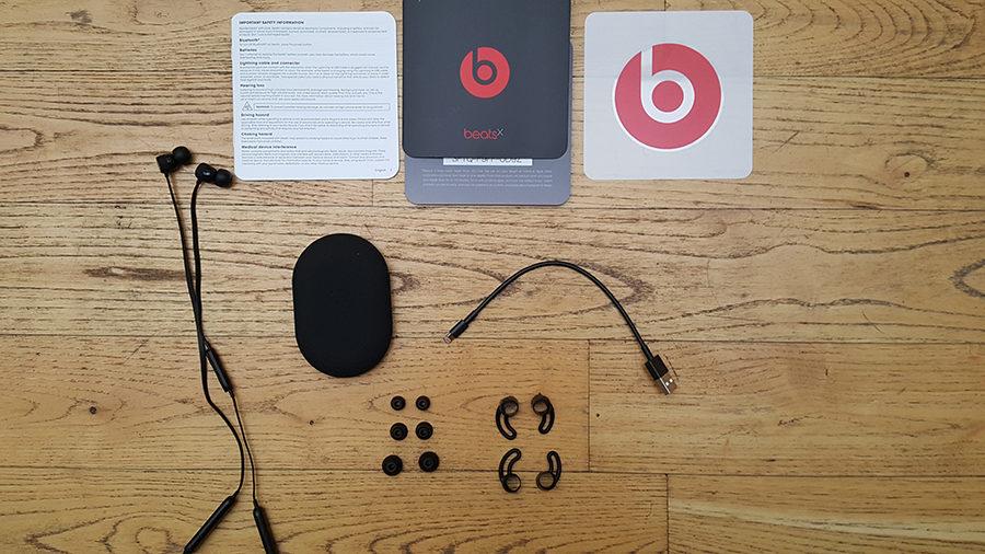 Test BeatsX contenu boîte