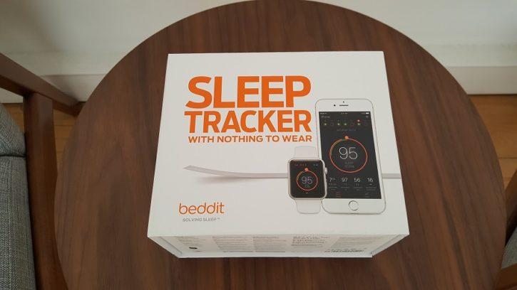 test beddit 3 sleep tracker unboxing boîte vue dessus