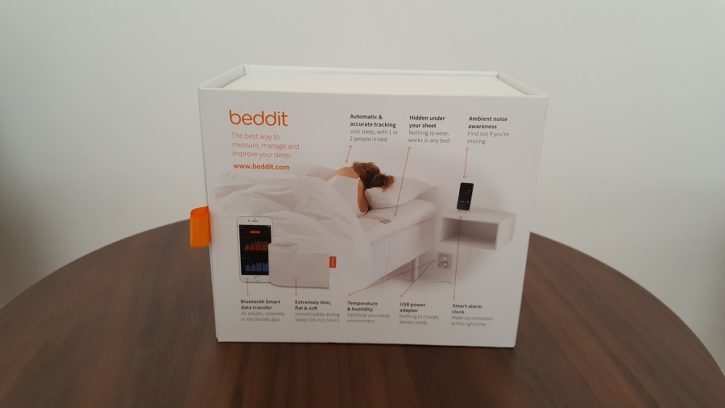 test beddit 3 sleep tracker unboxing packaging vue arrière