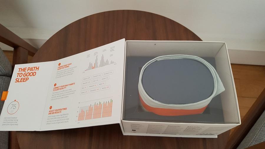 test beddit 3 sleep tracker unboxing boîte ouverte