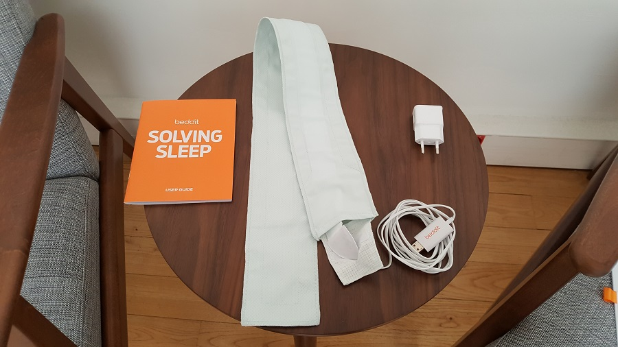 test beddit 3 sleep tracker unboxing matériel fourni