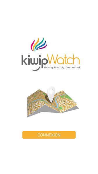 Test Application Kiwip Watch interface démarrage