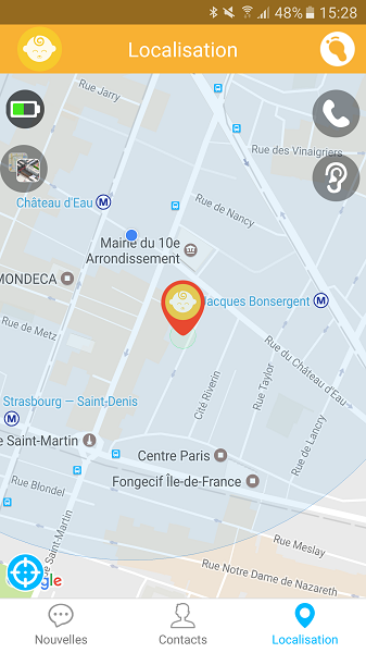 Test Application Kiwip Watch Géolocalisation Gmaps