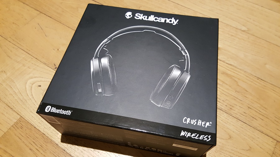 test skullcandy crusher wireless unboxing dessus boîte