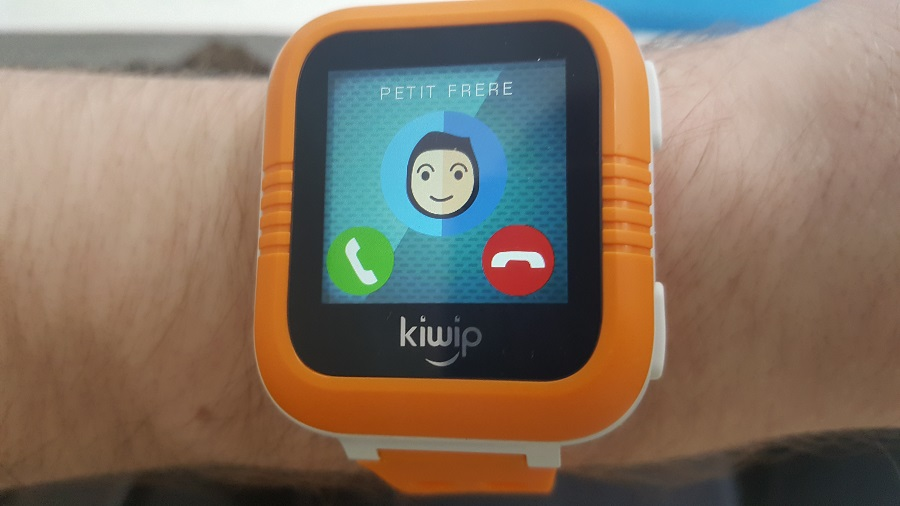 Test Utilisation Kiwip Watch interface appel